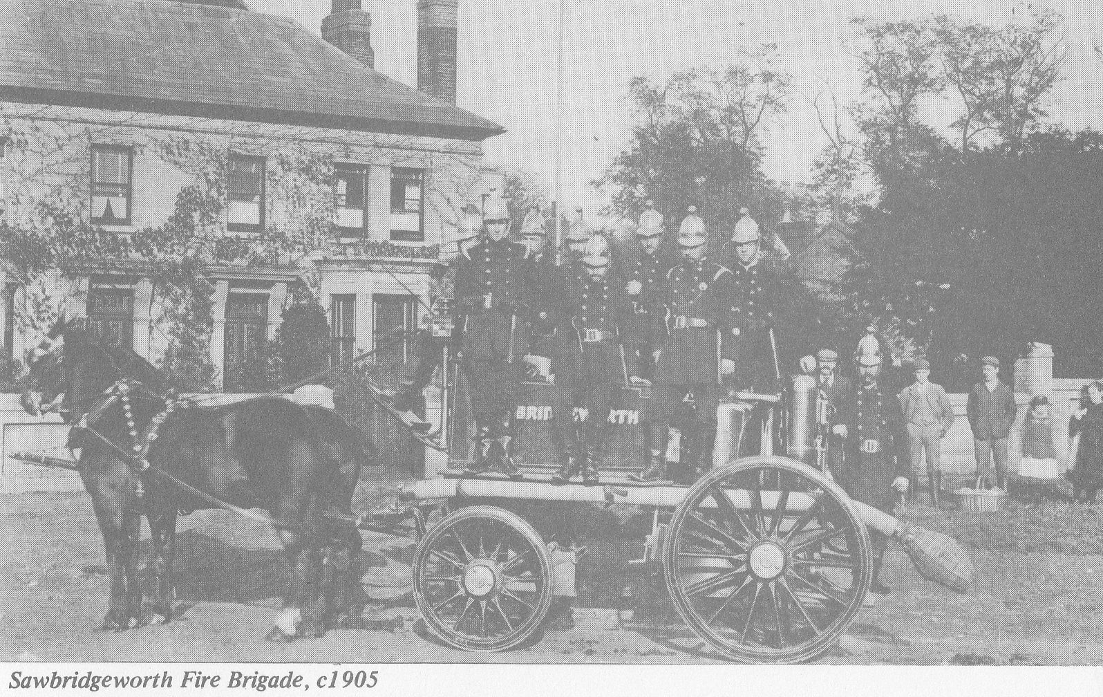 Sawbridgeworth Fire Brigade in 1905