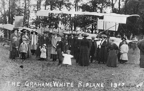 1912 Grahame White burnt Mill incident