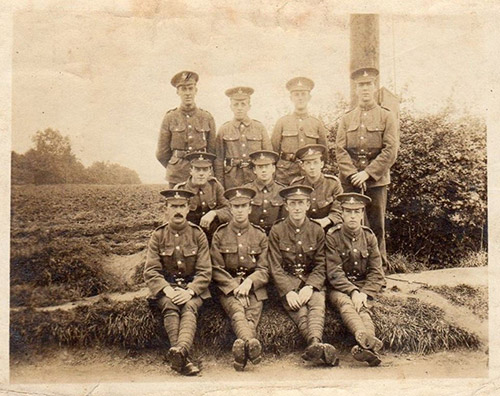 1915 Surrey rifle soldiers in SBW