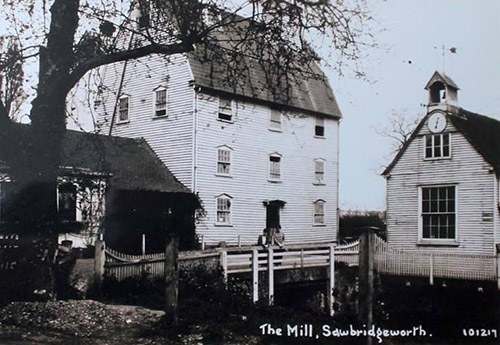 1920 or possibly slightly later Burtons Mill and the old Grain Store with the water level dial and bell still in place